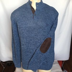 Chaps Elbow Patch Cotton Sweater